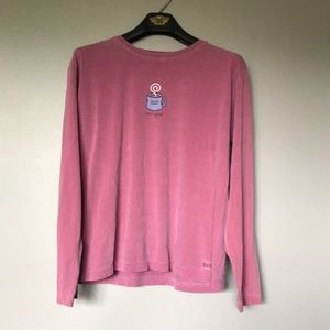Pink Life Is Good Long Sleeve